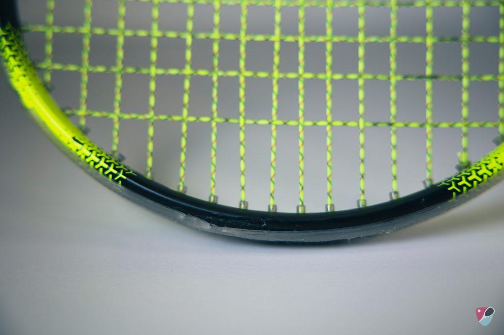 fissure sur le cadre de ma raquette de squash Dunlop Ultimate