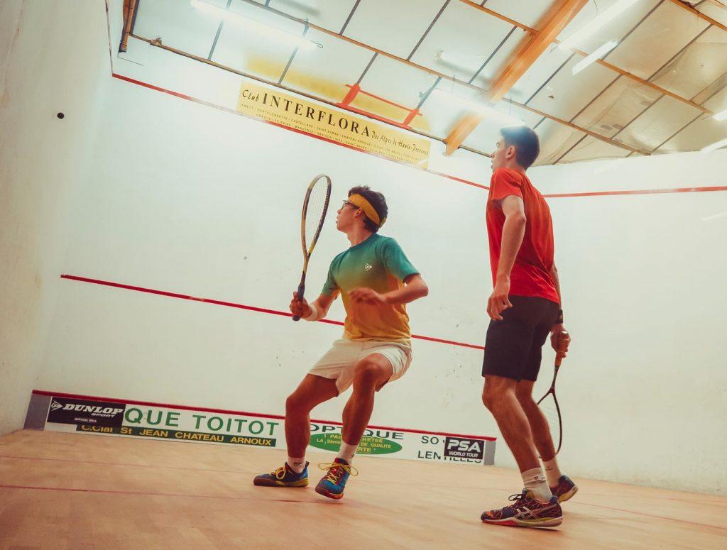 Match de squash entre Auguste Dussourd et Victor Crouin