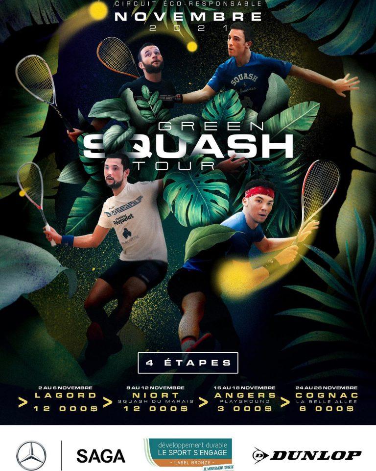 affiche du green squash tour
